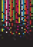 De puntachtergrond van de kleur Stock Illustratie