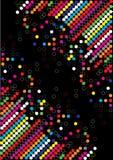 De puntachtergrond van de kleur Vector Illustratie