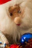 De punten en Santa Claus van de kerstboomdecoratie Stock Afbeeldingen