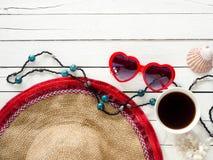De punten van de de zomervakantie, de hoogste mening van Strandtoebehoren stock afbeelding