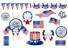 De punten van de decoratie voor Vierde van Juli Stock Fotografie