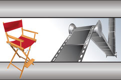 De punten van de film vector illustratie