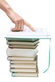 De punten van de het boekhand van Openning aan tekst Royalty-vrije Stock Foto