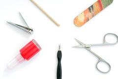 De punten van de manicure Stock Foto's
