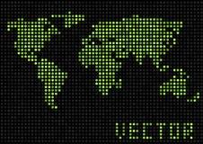 De punten van de wereldkaart Stock Afbeeldingen