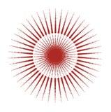 De punten van de zon stock illustratie