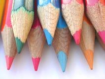 De punten van het kleurpotlood Stock Foto's