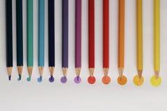 De punten van het kleurpotlood Stock Afbeeldingen