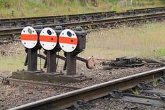 De Punten van het spoorwegspoor royalty-vrije stock afbeelding