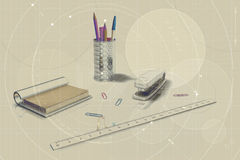 De puntenachtergrond van het bureau vector illustratie