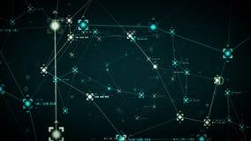 De Puntenblauw van netwerkgegevens royalty-vrije illustratie