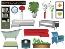De punteninzameling van het huishouden Stock Afbeeldingen