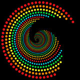 De puntenspiraal 2 van de regenboog Royalty-vrije Stock Afbeelding