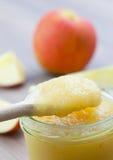 De puree van de appel in glas royalty-vrije stock foto