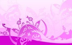 De purpere Achtergrond van Krommen. vector illustratie