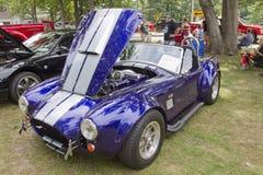 De purpere & Witte Cobra van Shelby van de Doorwaadbare plaats van 1965 Stock Foto's