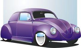 De purpere Auto van de Douane Stock Afbeelding