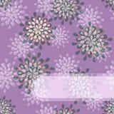 De purpere BloemenKaart van de Uitnodiging Royalty-vrije Stock Foto's