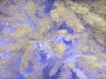 De purpere en witte achtergrond van Kerstmis Stock Afbeeldingen