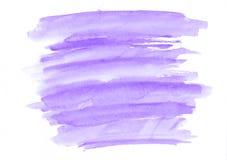 De purpere horizontale getrokken achtergrond van de waterverfgradiënt hand Het ` s nuttig voor grafisch ontwerp, achtergronden, p Royalty-vrije Stock Afbeeldingen