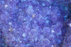 De purpere Kristallen van de Geode Stock Fotografie