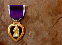 De purpere Militaire Decoratie van het Hart Royalty-vrije Stock Afbeeldingen
