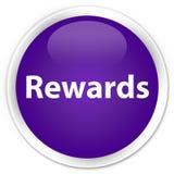 De purpere ronde knoop van de beloningenpremie Royalty-vrije Stock Afbeelding