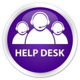 De purpere ronde knoop van de helpdesk (het teampictogram van de klantenzorg) premie Royalty-vrije Stock Afbeeldingen