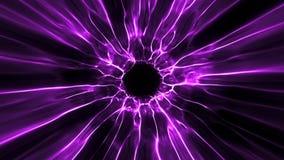 De purpere Tunnel Intro Logo Loop Background van de Zwart Gatenenergie stock illustratie