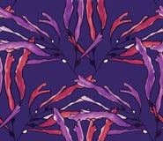 De purpere waterverf van het kelpzeewier op purple Royalty-vrije Stock Fotografie