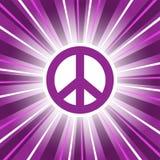 De purpere Zonsopgang van het Vredesteken stock illustratie
