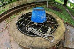 De put van het water in de tuin Royalty-vrije Stock Afbeeldingen