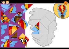 De puzzelspel van de beeldverhaalballon Royalty-vrije Stock Foto's