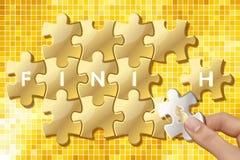 De puzzelstukken met woorden eindigen stock illustratie