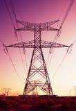 De pylonen kunnen als een installatie van art. worden beschouwd Stock Foto's