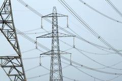 De pylonen van de elektriciteit Stock Afbeelding