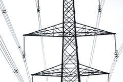 De pylonen van de elektriciteit Stock Foto's
