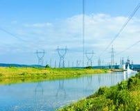 De pylonen van de macht Stock Foto