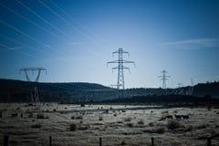 De pylonen van de macht Royalty-vrije Stock Fotografie