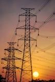 De pylonen van de macht Stock Afbeeldingen