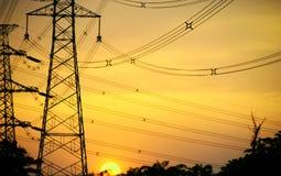 De pylonen van de macht Royalty-vrije Stock Afbeeldingen