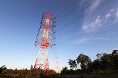De Pyloon van de elektriciteitsmacht Stock Afbeeldingen