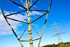De pyloon van de staalelektriciteit Stock Afbeelding