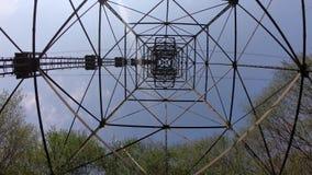 De pyloon van de kabelbaan die de steden van Albino en Selvino verbindt