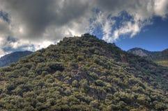 De Pyreneeën rond La Vella van Andorra Stock Foto