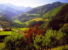 De Pyreneeën Spanje Frankrijk stock afbeeldingen