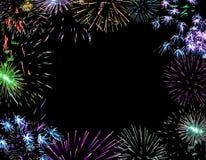 De pyrotechniek van vuurwerklichten Royalty-vrije Stock Fotografie