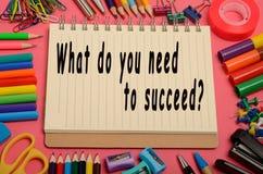 De qu'avez-vous besoin pour réussir ? Images libres de droits