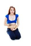 De quatre mois de la grossesse Image stock