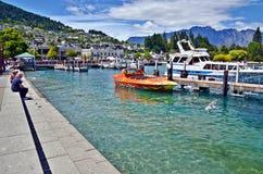 De Queenstownzomer Nieuw Zeeland Stock Afbeelding